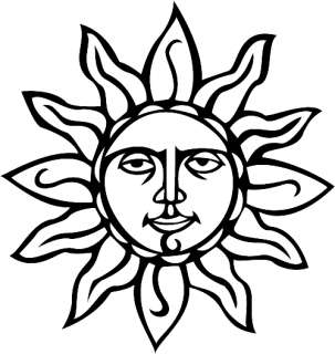 SUN SILHOUETTE HOME DECOR VINYL DECAL WALL ART GRAPHIC