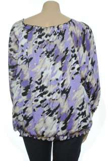 NEW Alfani Smock Printed 3/4 Sleeve Blouse Top Sz 22 $65