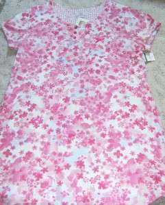 KAREN NEUBURGER NIGHTGOWN Short Sleeve Spring Summer SLEEP SHIRT PINK