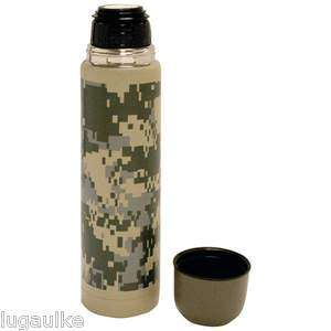 New in box 25oz (.74L) Double Wall Bottle   Digital Camo   Thermos 11