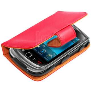 Wallet Leather Case For Blackberry Torch 2 9810 9800   Red + Film