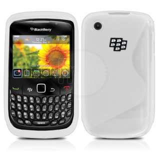 Magic Store   White S Line Wave Gel Case For Blackberry Curve 8520