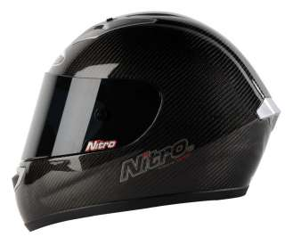 Nitro N1900 VF Carbon Motorcycle Crash Helmet   Medium