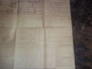 WW2 German Issue Model Boat Plans For Schnellboat