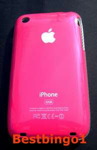 COQUE FUSHIA POUR Apple IPHONE 3G et 3Gs NEW