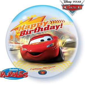 Bubbles Balloon Party Disney Cars Happy Birthday 22