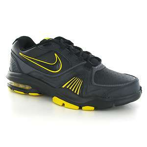 Nike Air Max Edge 11+ Black Yellow Leather Men Trainers