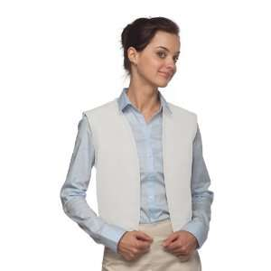 DayStar 740NP No Pocket Uniform Vest Apron   White