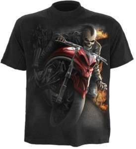 GOTHIC Speed Demon Biker Spiral T Shirt Shirt schwarz M L XL