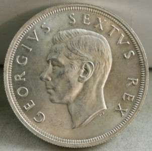 1652 1952 GEORGE VI SOUTH AFRICA 5 SHILLINGS SILVER COIN