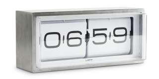 Leff Amsterdam Brick Wall Desk Clock Stainless Steel