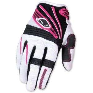 GUANTI MOTO CROSS INVADER ROSA BIANCO TG.XL UFO