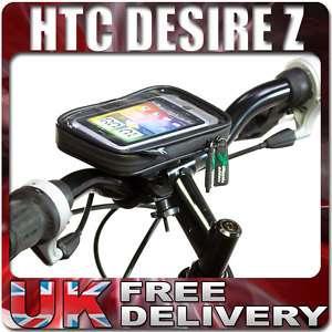 WATERPROOF CASE FOR HTC DESIRE Z + BICYCLE BIKE MOUNT