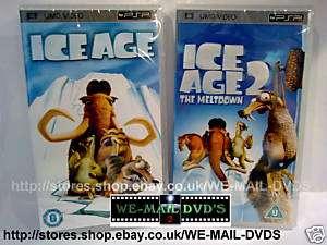 PSP UMD DVD   Ice Age 1 & 2  * New/Sealed *  Movie/Film