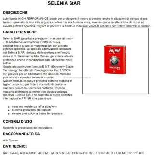 OLIO MOTORE SELENIA STAR PURE ENERGY 5W40 lt.2