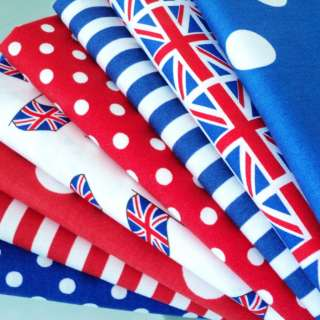 UNION JACK FLAG   RED BLUE AND WHITE COTTON FABRIC olympics 2012 flags