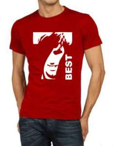 Shirt GEORGE BEST 7 R  calcio manchester cult vintage