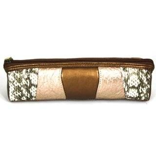 Danielle Black Tie Rectangular Pencil Case, Black/pink