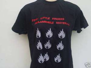 STIFF LITTLE FINGERS INFLAMMABLE MATERIAL MENS T SHIRT
