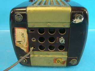 Westinghouse H125 Little Jewel Refrigerator Antique Tube Radio Brown
