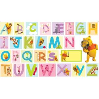 WINNIE THE POOH XXL GIANT ALPHABET WALL STICKERS NEW