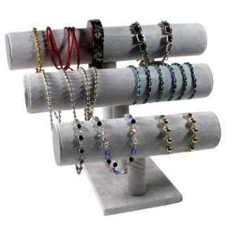Présentoir bijoux joncs à bracelets noir / blanc / gris