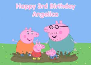 Personalised Peppa Pig Birthday Greeting Card A6