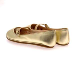 GIRLS BALLET PUMPS SHOES WEDDING SILVER GOLD SIZE 10  2