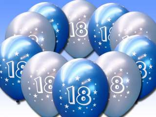 10 Light Dark Blue 18th Birthday 11 Pearlised Balloons