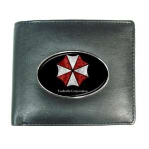 RESIDENT EVIL UMBRELLA CORP Mens Leather Wallet GIFT