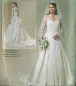 Princess Kate Middleton Royal Wedding Gown Sewing Pattern 5731 Bridal