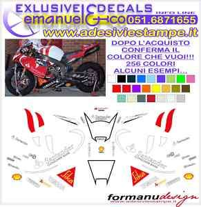 KIT ADESIVI DECAL YAMAHA R1 R6 REPLICA SBK SANTANDER