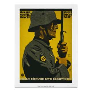 Wahr Dich   German World War I Poster by RetroCommunications