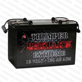 12V THUMPER REDBACK EXTREME AGM DEEP CYCLE BATTERY BATTERIES