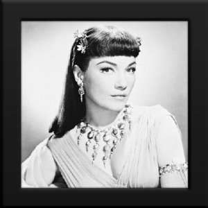 Anne Baxter Custom Framed 12x12 B&W Photo (The Ten