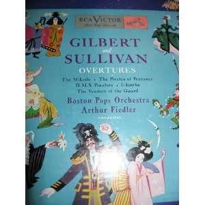 Sullivan Overtures (Rare 10 LP Record) Arthur Fiedler, Boston Pops