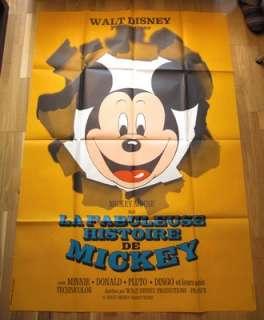 LA FABULEUSE HISTOIRE DE MICKEY Mouse   WALT DISNEY   Poster Affiche