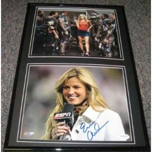 ERIN ANDREWS ESPN SEXY SIGNED FRAMED PHOTO 12x18 JSA