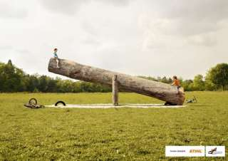 STIHL CHAINSAW THINK BIG TOOLS POSTER