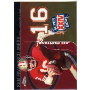 Joe Montana San Francisco 49ers 2008 Topps Chrome