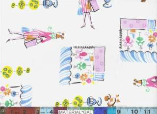 Fabri Quilt Fabric ~ Parisian Girls Paris Poodle Shop