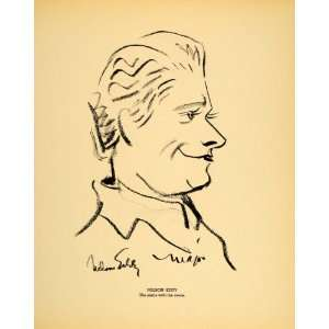 1938 Nelson Eddy Singer Actor Henry Major Lithograph   Original