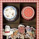 various boys party cupcake kits by plush parties