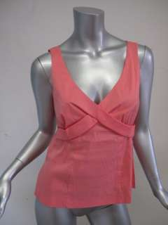 Trina Turk top Pink Cotton Stretch Tank sz S