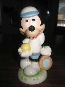 GOEBEL WALT DISNEY MICKEY MOUSE TENNIS PLAYER FIGURINE