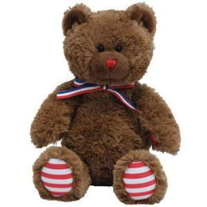 TY Beanie Baby   UNCLE SAM the Bear (Dark Brown) Toys & Games