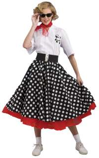 Deluxe Polka Dot 50s Costume   Adult Costumes