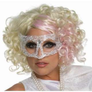 Lady Gaga Curly Blonde Adult Wig with Pink Highlights, 70924