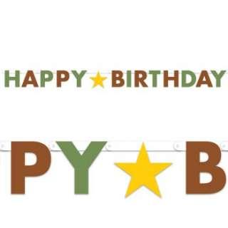 Green/ Brown Star Happy Birthday Banner Ratings & Reviews