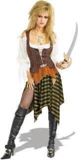 G15 Ladies Caribbean Pirate Wench Outfit Fancy Dress Halloween Party Costume/&Hat